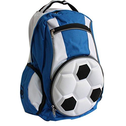 Diapolo Calcio Zaino Sport tasche tasche multiple a colori composizione, royalblau - weiß