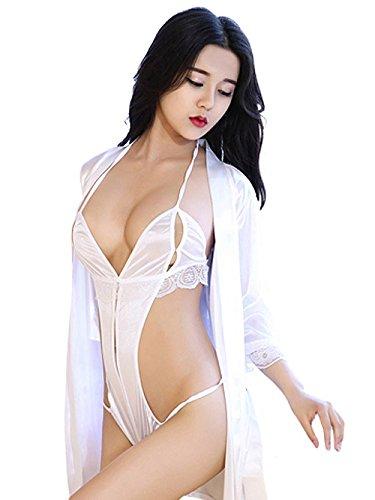 (VIVID STYLE) 性感 女士内衣 有裙子的裸露度很高的性感 SEXYTEDDY 237 白色 日本 フリーサイズ-(FREE サイズ)