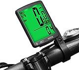 Lurowo Cuentakilómetros Inalámbrico para Bicicleta,Ciclocomputadores,Impermeable y Pantalla de luz de Fondo LCD,Velocímetro de Bicicleta de 19 Funciones para Ciclismo,3.15X2.1X0.73''