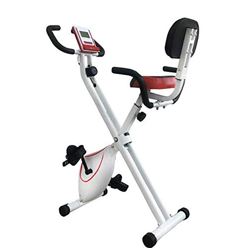 QLGRXWL Bicicleta estática, Home Trainer con Respaldo, Pleg