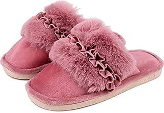 Brauch Girl's Fur Floral Indoor/Outdoor Warm Slipper
