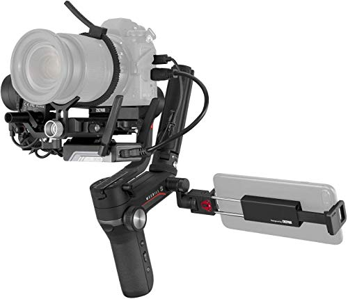ZHIYUN WEEBILL-S [Ufficiale] Stabilizzatore Gimbal 3 Assi per fotocamere DSLR, fotocamere mirrorless Canon, Sony, Nikon e Panasonic(Image Transmittion Pro Package)