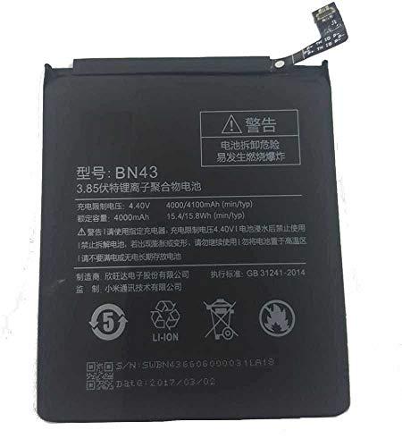 Todobarato24h BATERIA BN43 Compatible con Xiaomi REDMI Note 4X 4000 mAh (Ojo NO Valida Modelo BN41)