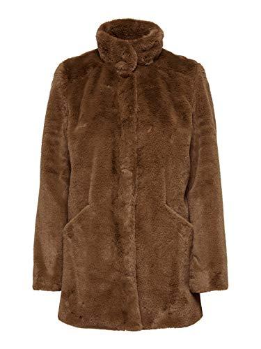 ONLY Damen ONLVIDA Faux FUR Coat OTW Mantel, Orange(Argan OilArgan Oil), S