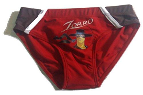 SUN CITY Costume da Bagno Bambini Zorro (4, Rosso)