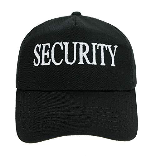 4sold Jungen Männer Frauen 100% Baumwolle Kapitän Yachting Baseball Cap Inschrift Schriftzug Sonne Sommer Hut Schwarz Weiß - Security,Adult