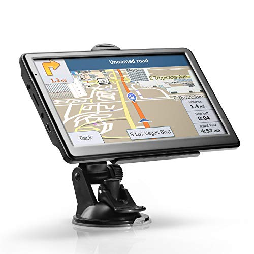 """GPS Navigation for Car, Lttrbx 2020 Latest Version 7"""" Touch Screen 8GB Real Voice Spoken Turn-by-Turn Direction Reminding Navigation System for Truck Driver, Vehicle GPS Satellite Navigator with Lifetime Map Update"""