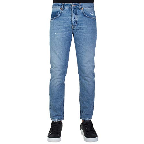 Haikure Jeans Uomo Tokyo Slim Crop Denim Medio 33