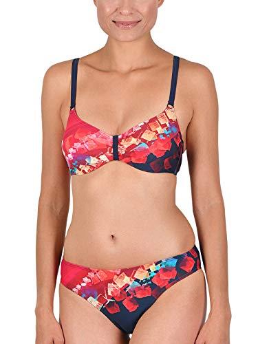 Naturana Bikini mit Innenbügel 72585 Gr. 42 D in Schiefer-Magenta-vanille