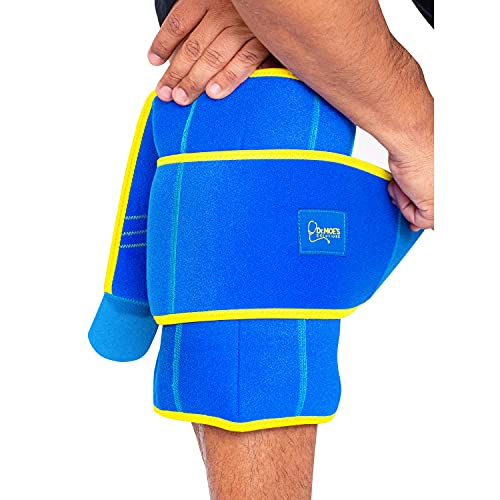 Dr. Moe's Solutions Ice Pack for Knees – Knee Pain Relief – Gel Wrap – After Knee Surgery – After Workouts, Arthritis, Shin Splints, Sprains – 360 Degree Coverage – Designed by A Physical Therapist.
