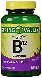 in budget affordable Only 1 Pack Spring Valley Instant Vitamin B 122500 mcg, Metabolic Support, 120 Tablets …