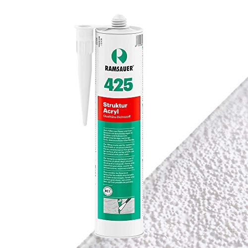 Ramsauer 425 Struktur Acryl - Strukturierte Fugendichtungsmasse für Beton, Gasbeton, Putz, Mauerwerk und Holz (Weiß Grob)