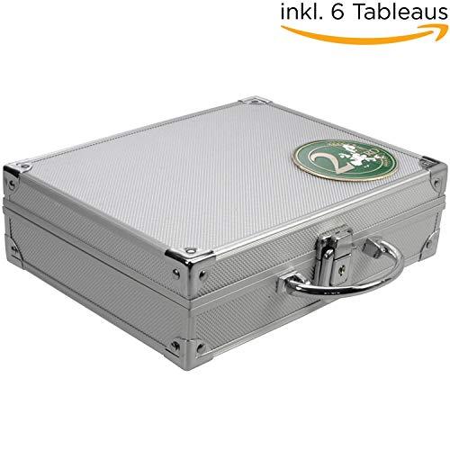 SAFE 174 ALU Münzkoffer mit 6 Tableaus 6326 für 210 Münzen bis 26 mm