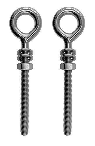 joyer/ía de bricolaje acero al carbono con niquelado botellas de corcho 100pcs 17mm Small Screw Eye Pins Ganchos Tornillos de ojal autorroscantes para madera