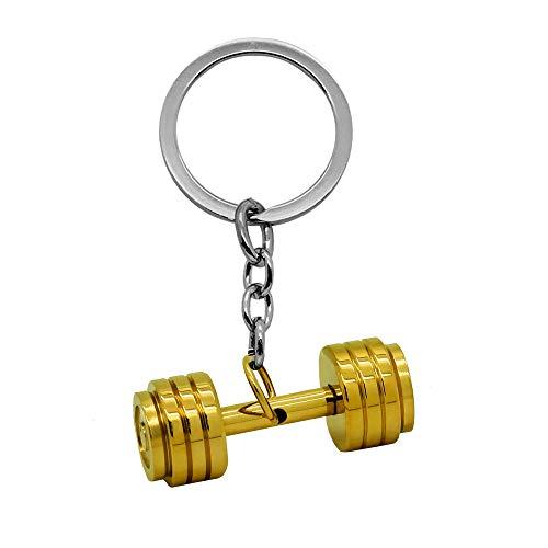 tumundo® Edelstahl Schlüssel-Anhänger Hantel Boxhandschuh Gewicht Fitness Bodybuilding Schlüsselring Autoschlüssel Sport, Variante:Variante 10