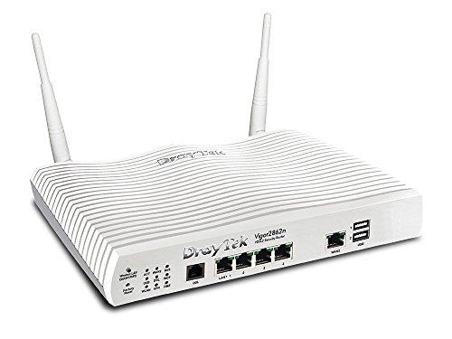 Draytek Vigor 2862n - WLAN-Router (Dual-Band (2,4 GHz/5 GHz), Wi-Fi 4 (802.11n), 300 Mbit/s, IEEE 802.11a,IEEE 802.11b,IEEE 802.11g,IEEE 802.11n, Gigabit Ethernet, 10,100,1000 Mbit/s)