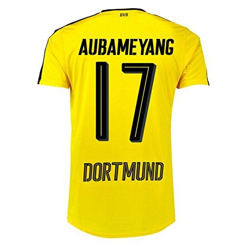 2016-17 Borussia Dortmund Home Shirt (Aubameyang 17)