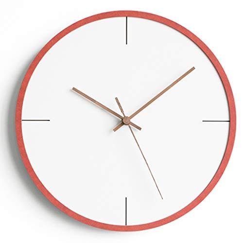 Xz max @Muur Klok Muur klokken voor woonkamer huiskamers Kleur grens mode trend licht rond milieu MDF mute niet-tikkende klok 12 inches