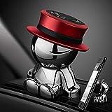 aokway 車載スマホホルダーダッシュボードクリップ携帯ホルダーiphone スタンド可愛360度回転|創意プレゼント(レッド)