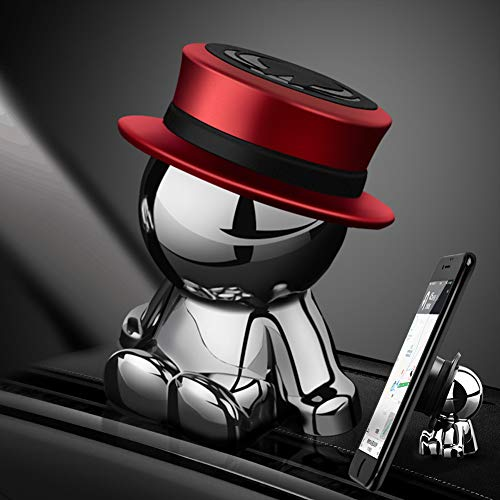 Kfz-Handyhalterung, magnetisch, fürs Armaturenbrett, universell, für Autozubehör, Heimdekoration (rot)