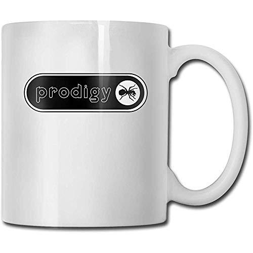 Mok The Prodigy band logo handgemaakt grappige koffiemok cadeau voor fans van de bruid wit