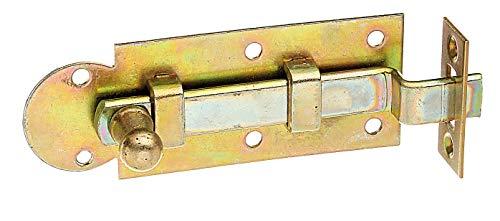 GAH-Alberts 113216 Fensterriegel | gekröpft, mit Schließblech | galvanisch gelb verzinkt | Platte 80 x 30 mm | 10er Set