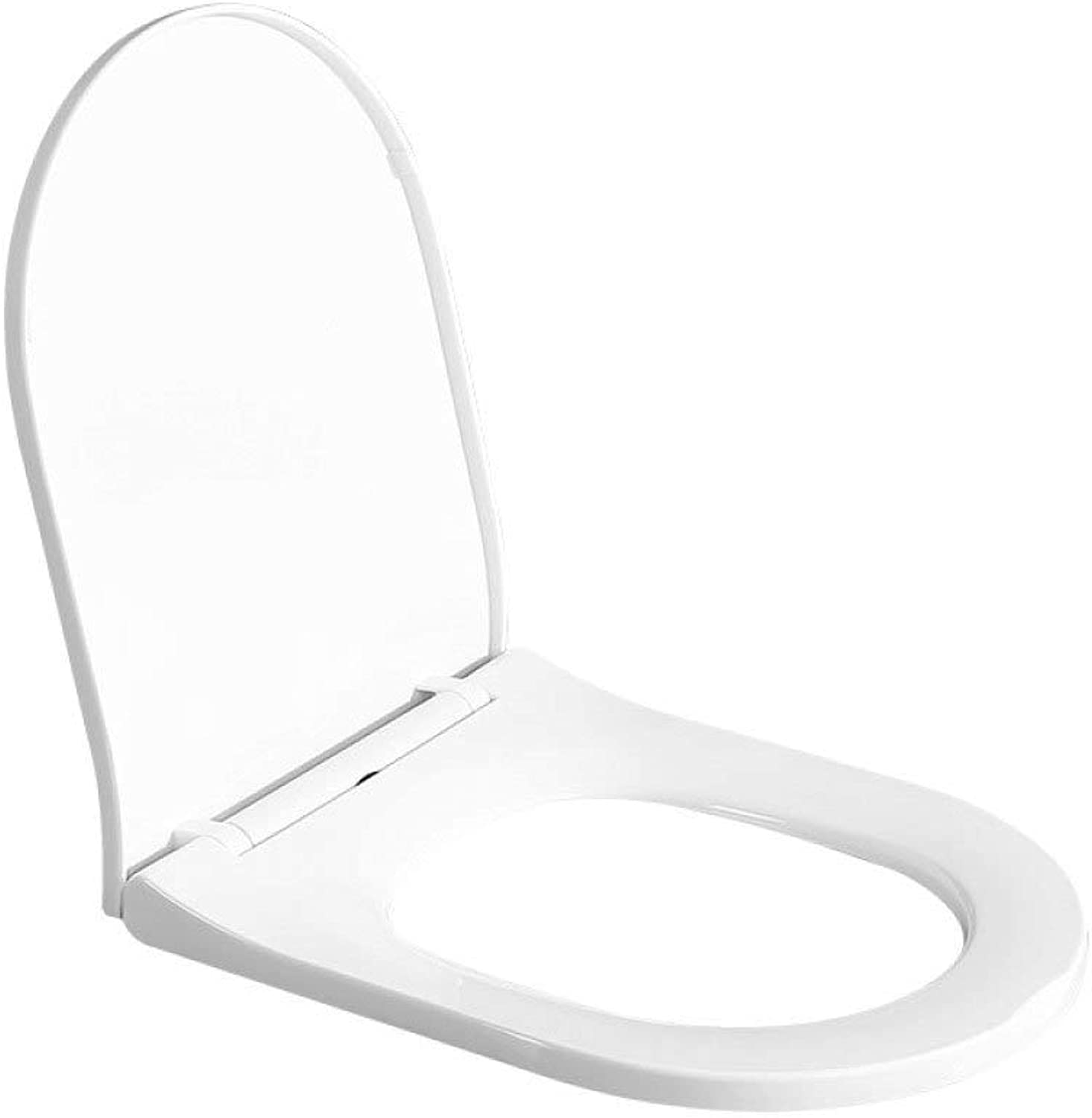 Weiwei Toilet Seat One Second Disassembly Top Mounted Thicker Ultra Resistant Toilet Lid For U Toilet,White-44.549.5  40cm