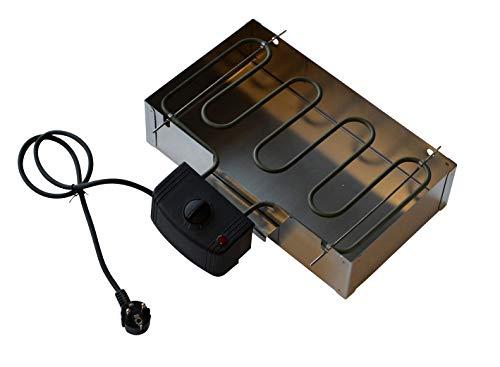 Universal Elektroheizung für Räucherofen / Räucherschrank 2000 Watt (Heizung + Glutkasten)