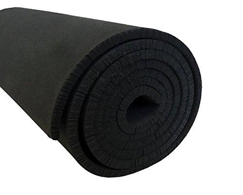 XCEL - Medium Soft Cosplay Craft Foam Roll, Black, Size 54 Inch x 12 Inch x 1/8 Inch