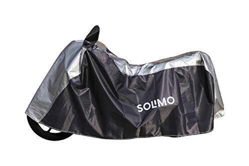 Amazon Brand - Solimo Universal Bike UV Protection & Dustproof Bike Cover (Dark Blue;Silver)