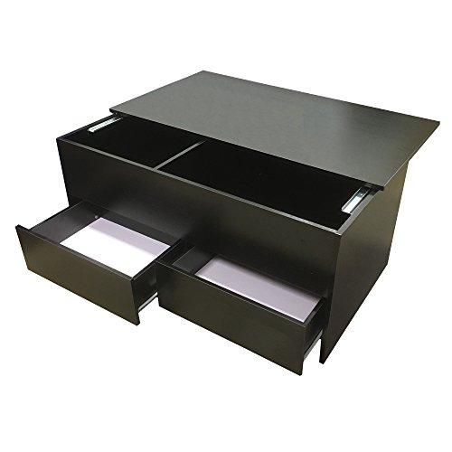 Redstone Couchtisch Schwarz mit Lagerung und 2 Schubladen