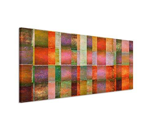 Paul Sinus Art 150x50cm Leinwandbild auf Keilrahmen Hintergrund abstrakt bunt Wandbild auf Leinwand als Panorama