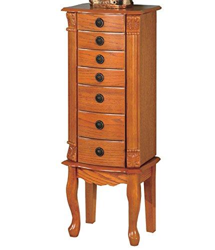 Coaster Fine Furniture 900135 Clásico Mueble para Joyería con Cajones y Puertas Laterales, Color Café…