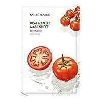 Nature Republic Real Nature Mask Sheet (10EA)リアルネイチャー マスクシート 10個 (Tomato_トマト)