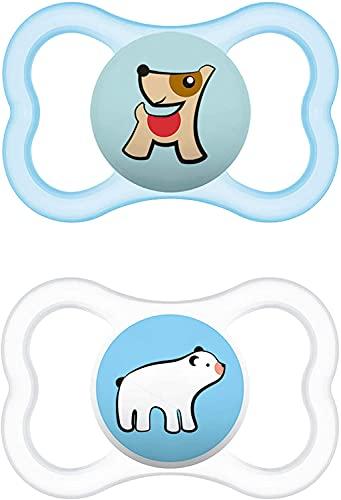 Instrucciones en lengua extranjera - Mam Supreme Juego de 2 chupetes para bebé para dientes y mandíbula sanos previene la irritación de la piel con caja de chupetes 6-16 meses