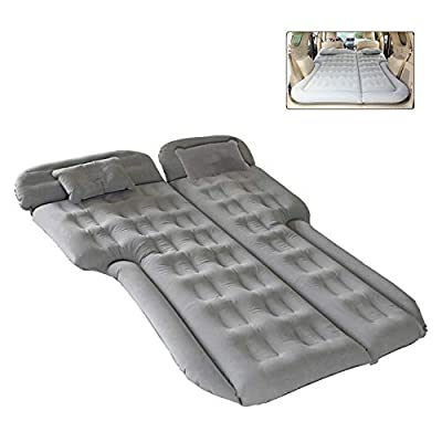 Inflatable Car Air Mattress, Upgraded Version Car Trunk Travel Camping Bed, Portable Flocking Tent Cushion with Electric Air Pump, Fits SUV, RV, Truck etc General Car Model, with Extra Snow Cover