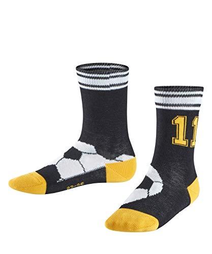 FALKE Kinder Socken Soccer, Baumwollmischung, 1 Paar, Schwarz (Black 3000), Größe: 27-30