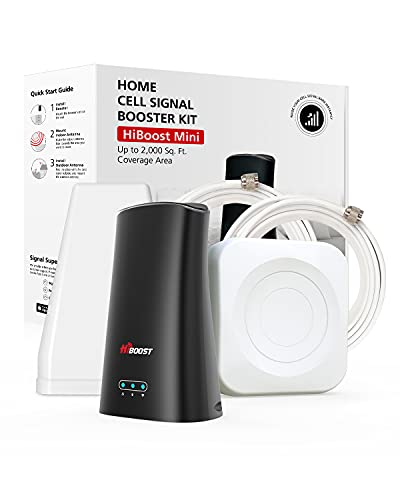 Hiboost Cell Phone Signal Booster Up to 2,000 sq ft for Home & Office, Boosts 3G 4G LTE Voice and Data for All U.S. Carriers - Verizon, T-Mobile, Sprint, AT&T