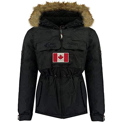 Canadian Peak BANTOUNEAK MEN - Men's Warm Waterproof Parka - Coat Thick Hooded Fur Outdoor - Warm Windproof Jacket Winter Outdoor Lining - Jacket Men's NEGRO 3XL