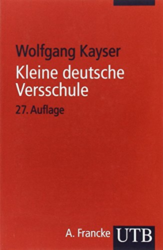 Kleine deutsche Versschule. (German Edition)