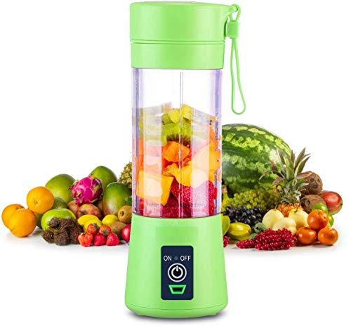 MR. BRAND Portable Blender, Personal Mixer Fruit Rechargeable with USB, Mini Blender for Smoothie, Fruit Juice, Milk Shakes, 380ml, Four 3D Blades for Great Mixing (Multi Colour)