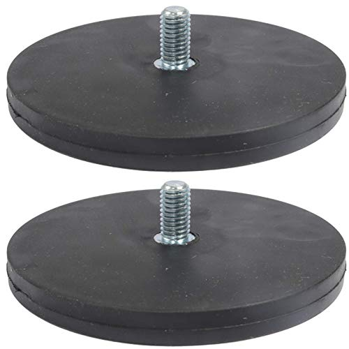 10x gummiert Neodym Magnetsystem Gummi Topfmagnet D 34 mm M4 Außengewinde 8 Kg