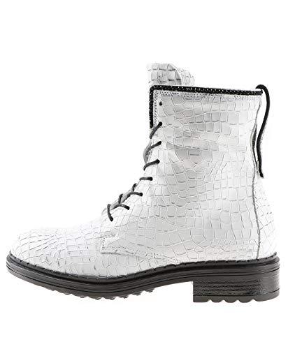 Mjus| Stiefelette - weiß| Bianco, Farbe:weiß, Größe:41