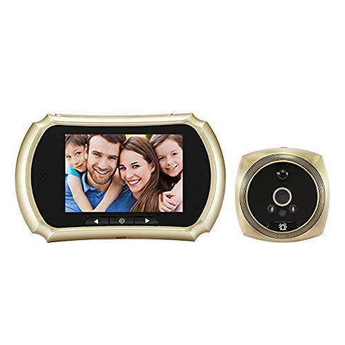 N07 3.5 'Timbre digital ir visión nocturna mirilla puerta visor cámara video pulgadas detección movimiento gato ojo espejo