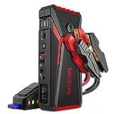 TACKLIFE T8 800A Peak 18000mAh Avviatore Batteria Auto con Display LCD (Fino a 7,0 Litri di Gas, Motore Diesel da 5,5 Litri), ripetitore per Batteria da 12 V con Cavo Smart Jumper (Rosso)