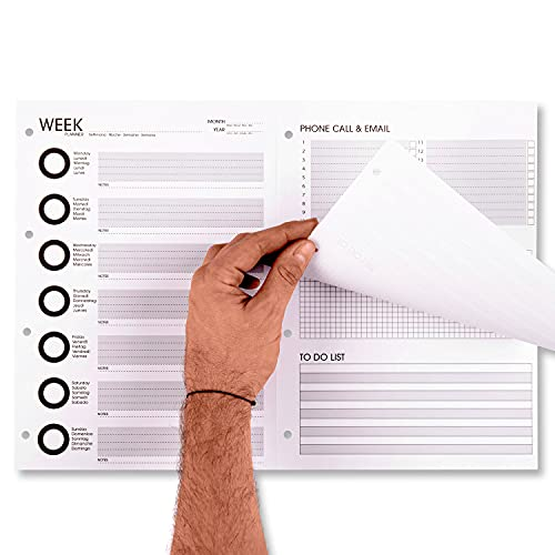 Agenda semainier 2021 mensuel et journalier, de bureau, grand format A3, planificateur de table avec calendrier, organiseur 50 + 50 feuilles A4 à détacher Fabriqué en Italie