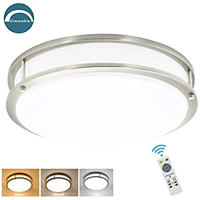 LED Flush Mount Ceiling Light Fixture Round Ceiling Lighting for Living Room/Kitchen/Bedroom