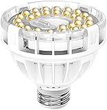 SANSI - Lampada LED per piante a spettro completo E27, 15 W, luce bianca per piante da interni, lampada a LED per la crescita in serre, giardini interni, fiori, verdure, frutta