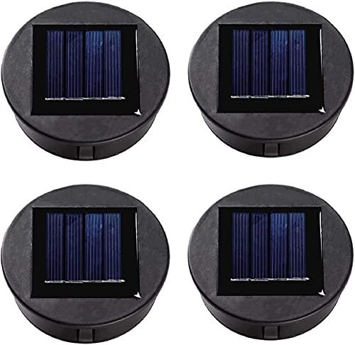ANGMLN 4 lampade solari di ricambio con lampadine a LED, pannello solare, coperchio di ricambio per lanterne a sospensione, fai da te per lampade solari a LED, decorazione da giardino
