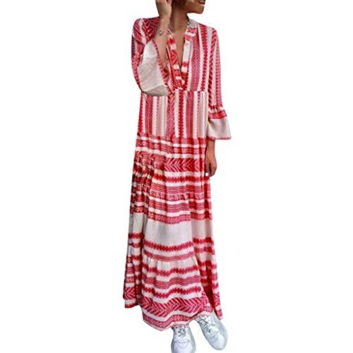 COZOCO 2019 Mode Frauen Casual Dress Sommer gedruckt Boho Dress v-Ausschnitt Strand Dress Party...